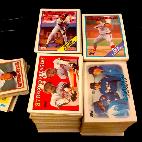 1988 Topps Baseball Lot Partial Set - 650+ cards